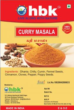Buy 100 g Home Made Curry Masala Powder Online at low price - hbkonline.in